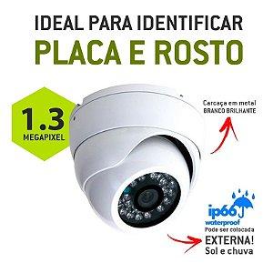 CÂMERA DOME 2.8mm EXTERNA AHD - M ALTA DEFINIÇÃO 1.3 MEGA PIXEL - 960 P - IR Cut