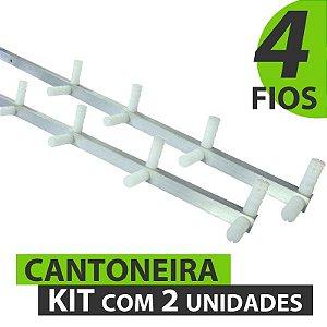CANTONEIRA COM 4 FIOS (8 ISOLADORES) 75 CM - KIT COM 2