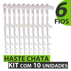 HASTE COM 6 FIOS 1 METRO - KIT COM 10