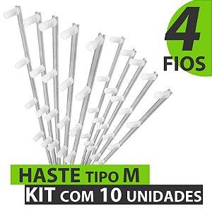 HASTE TIPO M COM 4 FIOS - KIT COM 10