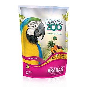 Megazoo - Extrusada Araras com Frutas e Legumes - 600g (VALIDADE: 12/09/2021)