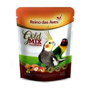 Reino das Aves Calopsita Gold Mix - 4Kg