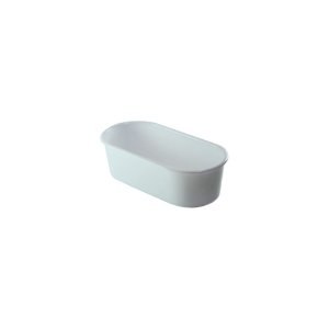 Banheira Oval Leitosa - Pequena