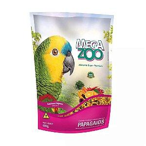 Megazoo - Extrusada Papagaio Frutas e Legumes - 600g
