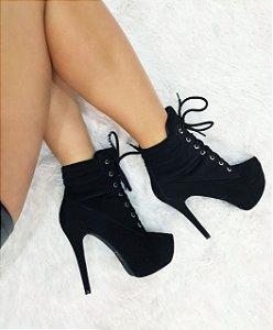 Bota Ankle Boot Salto Fino Black 9b47ea6c792