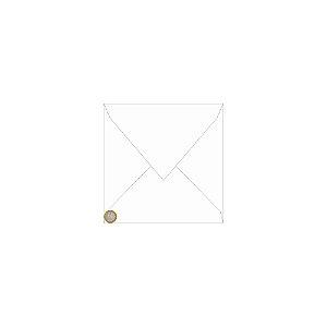 Envelope para convite | Quadrado Aba Bico Color Plus Porto Seguro 25,5x25,5