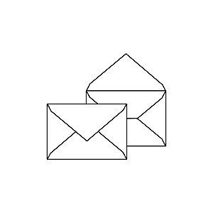 Envelope para convite | Retângulo Aba Bico Markatto Concetto Metallo Bianco 20,0x29,0