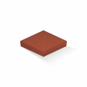 Caixa de presente | Quadrada F Card Scuro Laranja 18,5x18,5x4,0