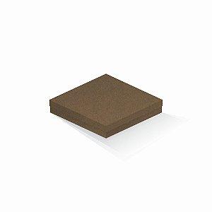 Caixa de presente | Quadrada F Card Scuro Marrom 18,5x18,5x4,0