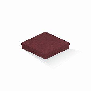 Caixa de presente | Quadrada F Card Scuro Vermelho 18,5x18,5x4,0