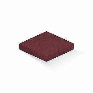 Caixa de presente | Quadrada F Card Scuro Vermelho 20,5x20,5x4,0