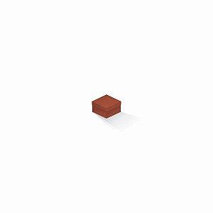 Caixa de presente | Quadrada F Card Scuro Laranja 5,0x5,0x3,5