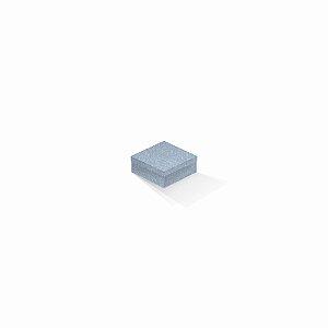 Caixa de presente | Quadrada Color Plus Metálico Mar Del Plata 7,0x7,0x3,5