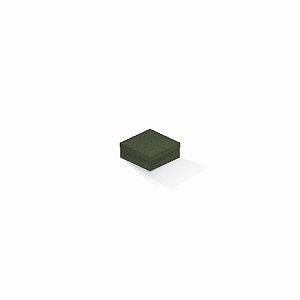 Caixa de presente | Quadrada F Card Scuro Verde 7,0x7,0x3,5