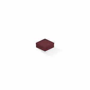 Caixa de presente | Quadrada F Card Scuro Vermelho 7,0x7,0x3,5
