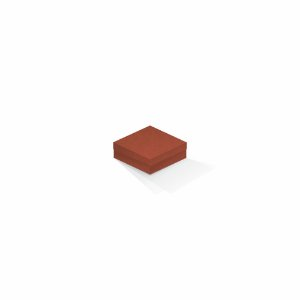 Caixa de presente | Quadrada F Card Scuro Laranja 8,5x8,5x3,5