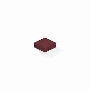 Caixa de presente | Quadrada F Card Scuro Vermelho 8,5x8,5x3,5