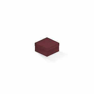 Caixa de presente | Quadrada F Card Scuro Vermelho 9,0x9,0x6,0
