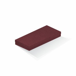 Caixa de presente | Retângulo F Card Scuro Vermelho 13,0x29,0x4,0