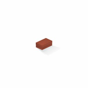 Caixa de presente | Retângulo F Card Scuro Laranja 5,0x8,0x3,5