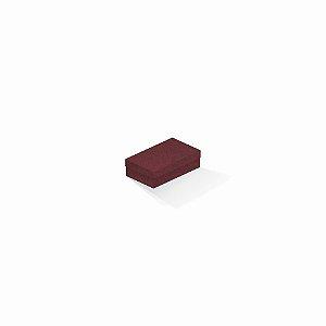 Caixa de presente | Retângulo F Card Scuro Vermelho 6,0x10,0x3,5