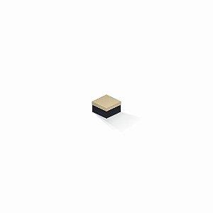 Caixa de presente | Quadrada F Card Areia-Preto 5,0x5,0x3,5