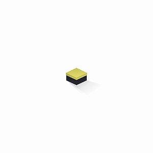 Caixa de presente | Quadrada F Card Canário-Preto 5,0x5,0x3,5
