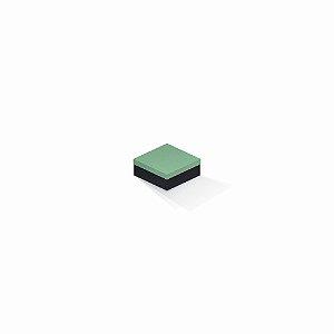 Caixa de presente | Quadrada F Card Verde-Preto 7,0x7,0x3,5
