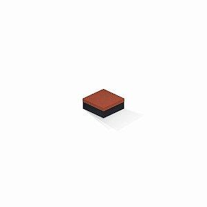 Caixa de presente | Quadrada F Card Scuro Laranja-Preto 7,0x7,0x3,5