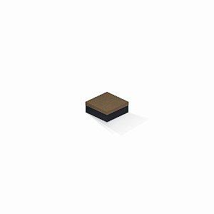 Caixa de presente | Quadrada F Card Scuro Marrom-Preto 7,0x7,0x3,5