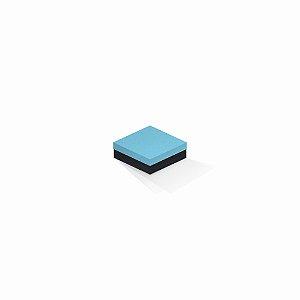 Caixa de presente | Quadrada F Card Azul-Preto 8,5x8,5x3,5
