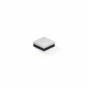 Caixa de presente | Quadrada F Card Branco-Preto 8,5x8,5x3,5