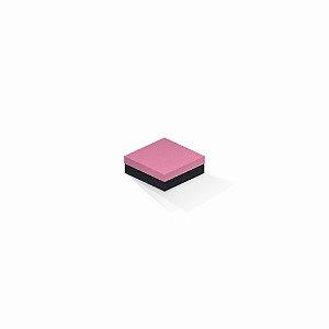 Caixa de presente | Quadrada F Card Rosa-Preto 8,5x8,5x3,5