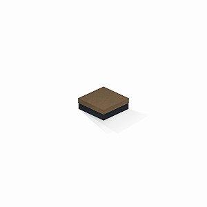 Caixa de presente | Quadrada F Card Scuro Marrom-Preto 8,5x8,5x3,5