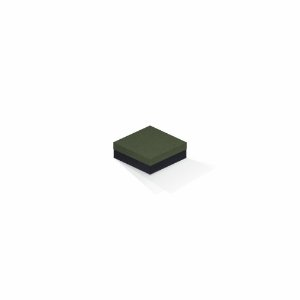 Caixa de presente | Quadrada F Card Scuro Verde-Preto 8,5x8,5x3,5