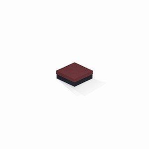 Caixa de presente | Quadrada F Card Scuro Vermelho-Preto 8,5x8,5x3,5