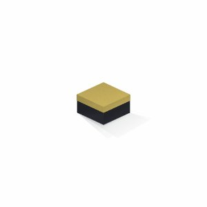 Caixa de presente | Quadrada F Card Ouro-Preto 9,0x9,0x6,0