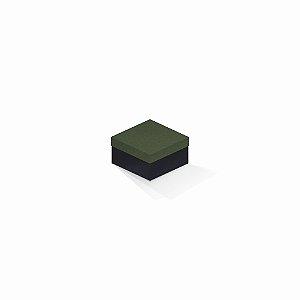 Caixa de presente | Quadrada F Card Scuro Verde-Preto 9,0x9,0x6,0