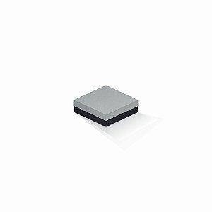 Caixa de presente | Quadrada F Card Cinza-Preto 10,5x10,5x4,0