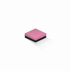 Caixa de presente | Quadrada F Card Rosa-Preto 10,5x10,5x4,0
