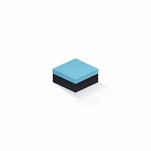 Caixa de presente | Quadrada F Card Azul-Preto 10,5x10,5x6,0