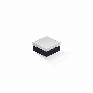 Caixa de presente | Quadrada F Card Branco-Preto 10,5x10,5x6,0