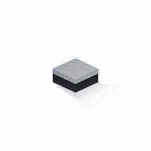 Caixa de presente | Quadrada F Card Cinza-Preto 10,5x10,5x6,0