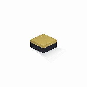 Caixa de presente | Quadrada F Card Ouro-Preto 10,5x10,5x6,0