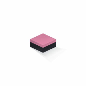 Caixa de presente | Quadrada F Card Rosa-Preto 10,5x10,5x6,0
