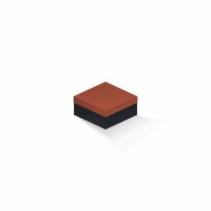 Caixa de presente | Quadrada F Card Scuro Laranja-Preto 10,5x10,5x6,0