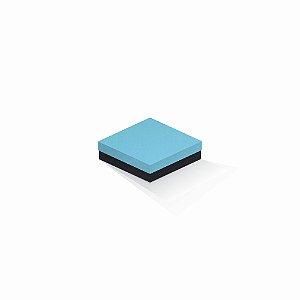 Caixa de presente | Quadrada F Card Azul-Preto 12,0x12,0x4,0