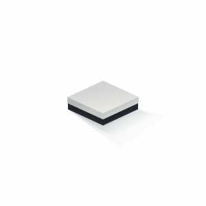 Caixa de presente | Quadrada F Card Branco-Preto 12,0x12,0x4,0