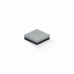 Caixa de presente | Quadrada F Card Cinza-Preto 12,0x12,0x4,0