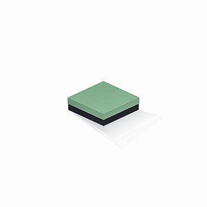 Caixa de presente | Quadrada F Card Verde-Preto 12,0x12,0x4,0